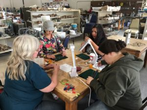 Diane teaching Wire Wrapping