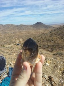 Smoky Quartz Crystal found in Lucerne Valley