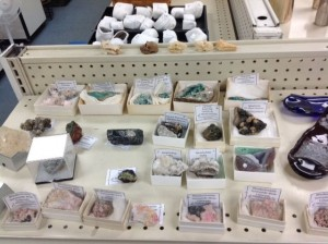 Rocks on Shelves